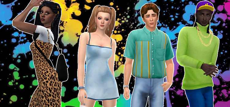 Sims 4 CC: 90s Aesthetic Clothes, Hair, Furniture & More