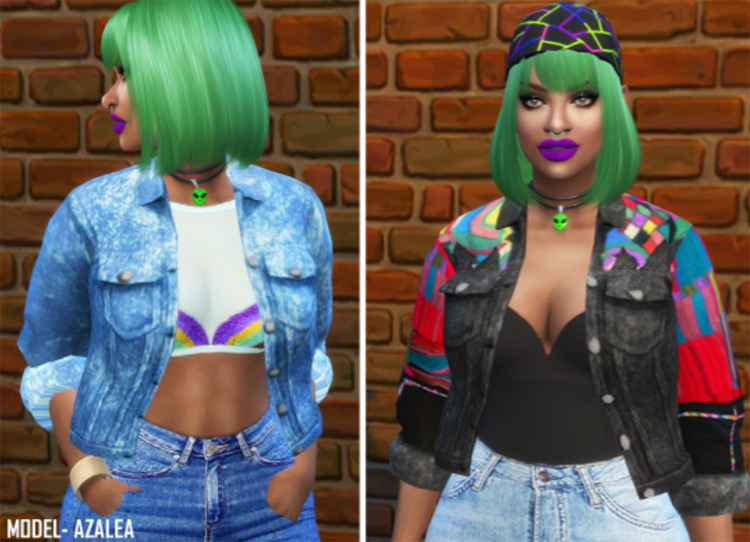 90's Acid Jacket for The Sims 4