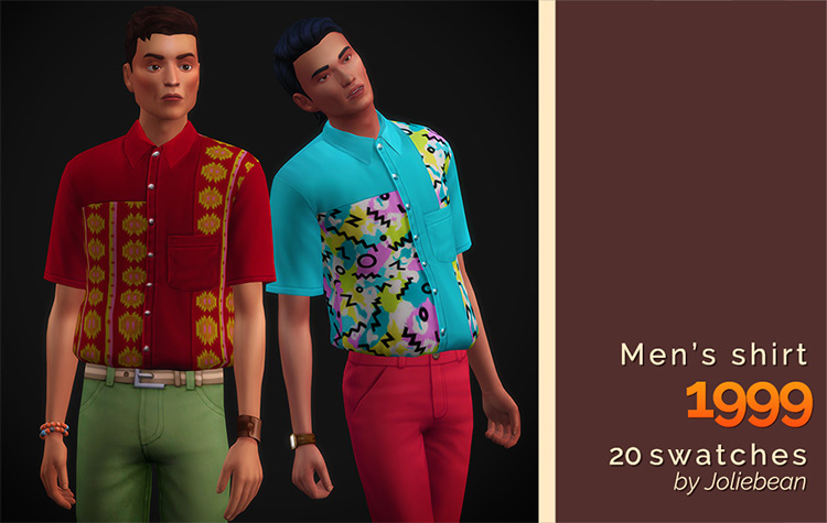Men's Shirts in 1999 Sims 4 CC