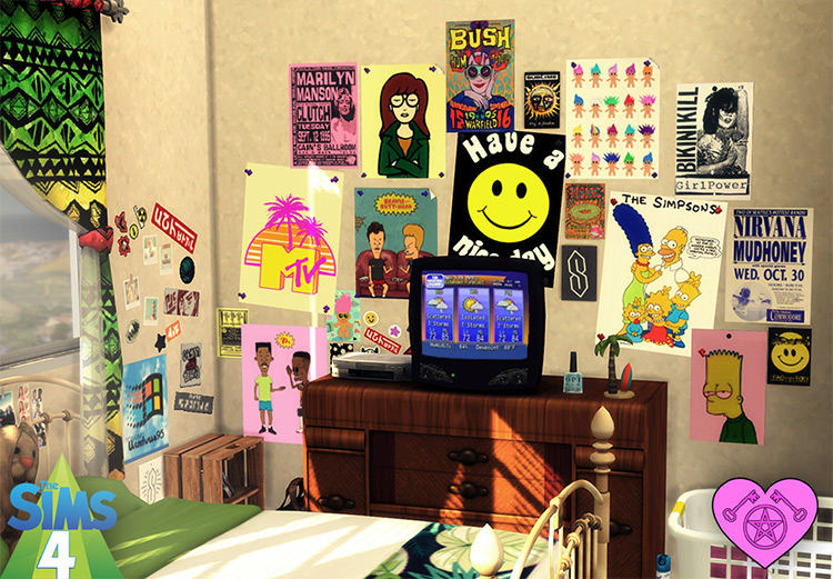 90's Wall Posters / TS4 CC