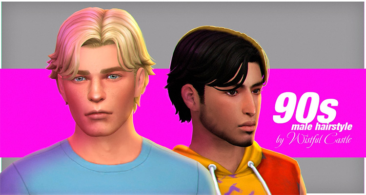 90's Male Hair for The Sims 4