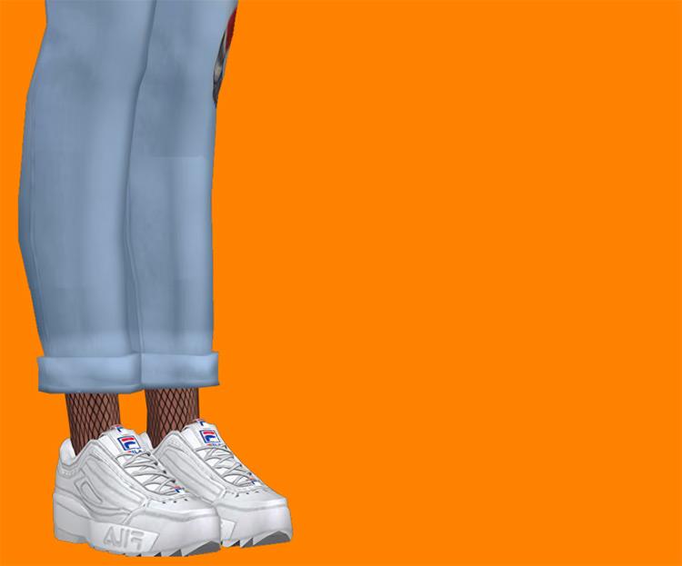 Fila Disruptor Shoes / Sims 4 CC
