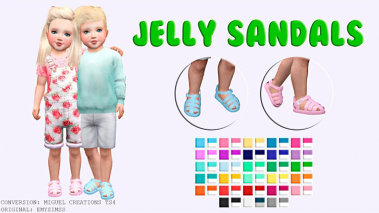 Jelly Sandals for Toddlers / Sims 4 CC
