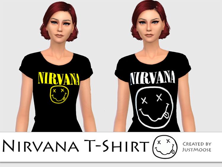 Nirvana 90s T-Shirt / Sims 4 CC