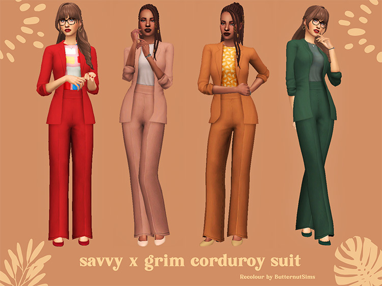 Corduroy Suit CC for The Sims 4