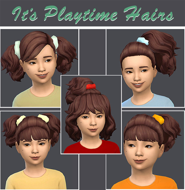 It's Playtime Hairs Set / Sims 4 CC