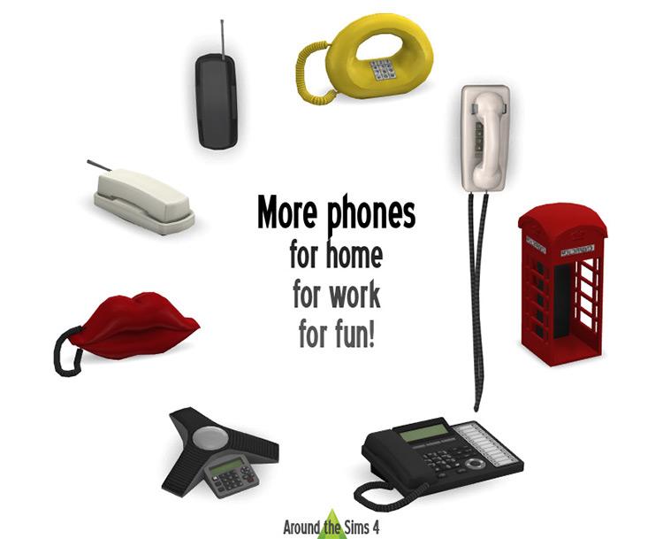 1990s Telephones / Sims 4 CC