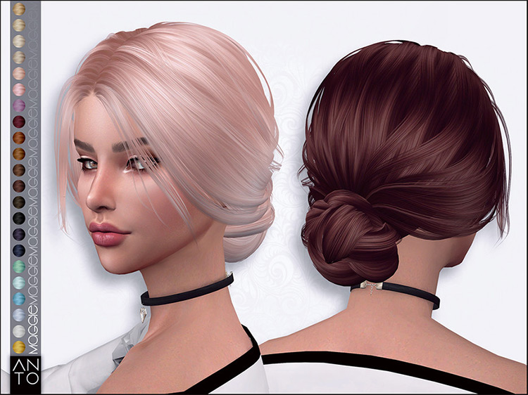 Maggie Hairstyle for Teens / TS4 CC