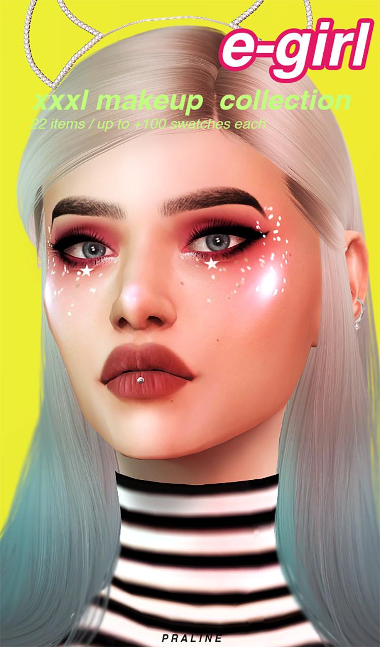 E-Girl XXL Makeup Collection for The Sims 4