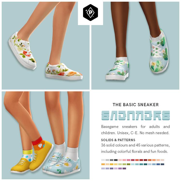 The Basic Sneaker Set for Sims 4