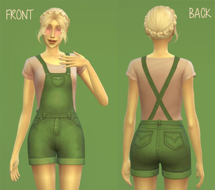 Short Overalls for Women / TS4 CC