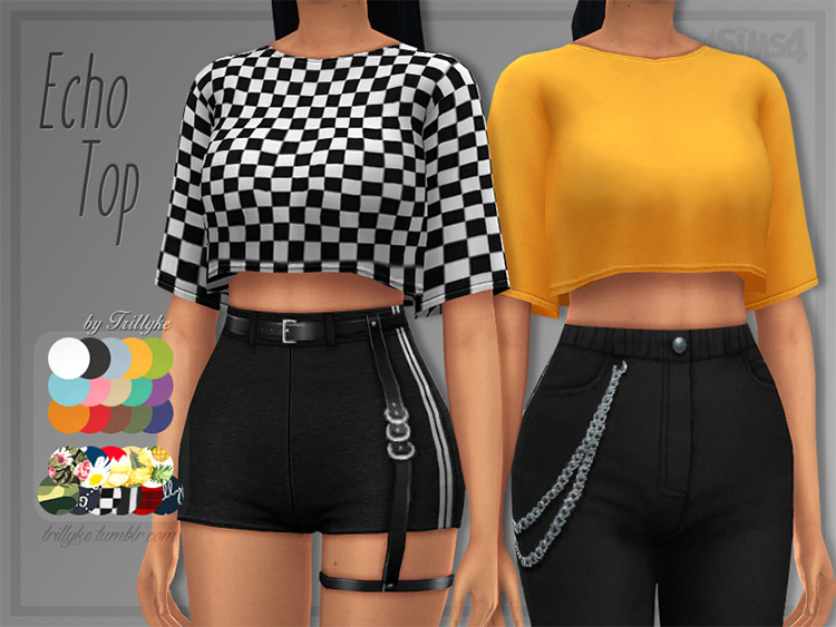 Echo Top for Teens / Sims 4 CC