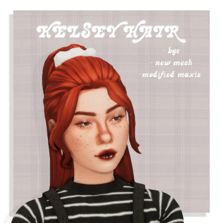 Kelsey Hair for The Sims 4