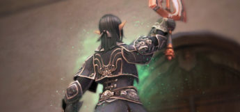 Elvaan character holding a sword in Final Fantasy XI