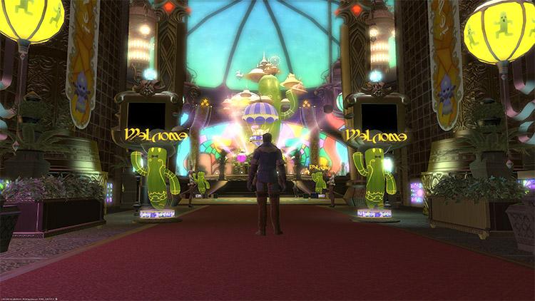 Inside Golden Saucer in FFXIV