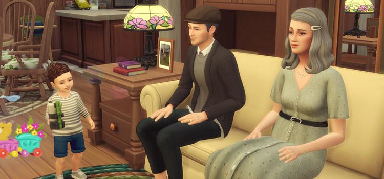 Sims 4 Grandma and Grandpa with Grandchild