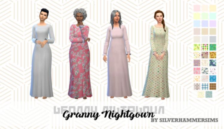 Granny Nightgown Sims 4 CC