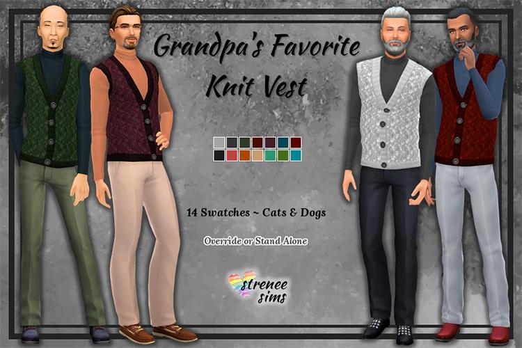 Sweater Vests Recolors Sims 4 CC