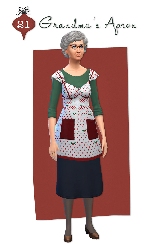 Grandma's Apron for Sims 4
