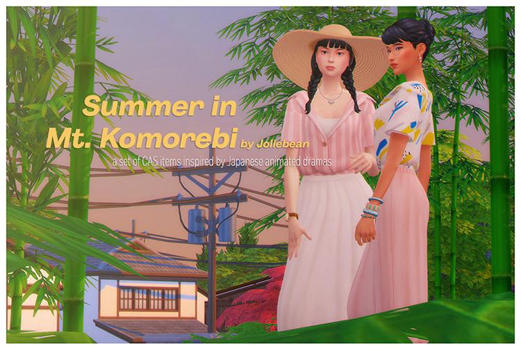 Summer in Mt. Komorebi / Sims 4 CC