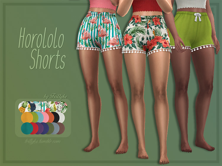 Horololo Shorts for The Sims 4