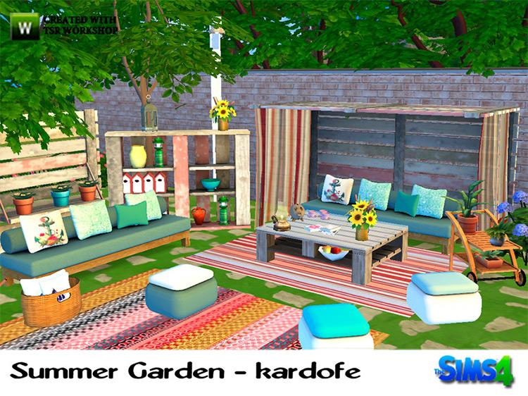 Summer Garden Set for The Sims 4