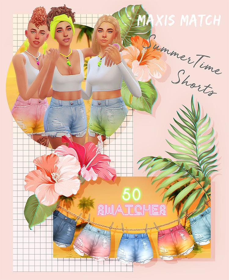 Summertime Shorts / Sims 4 CC