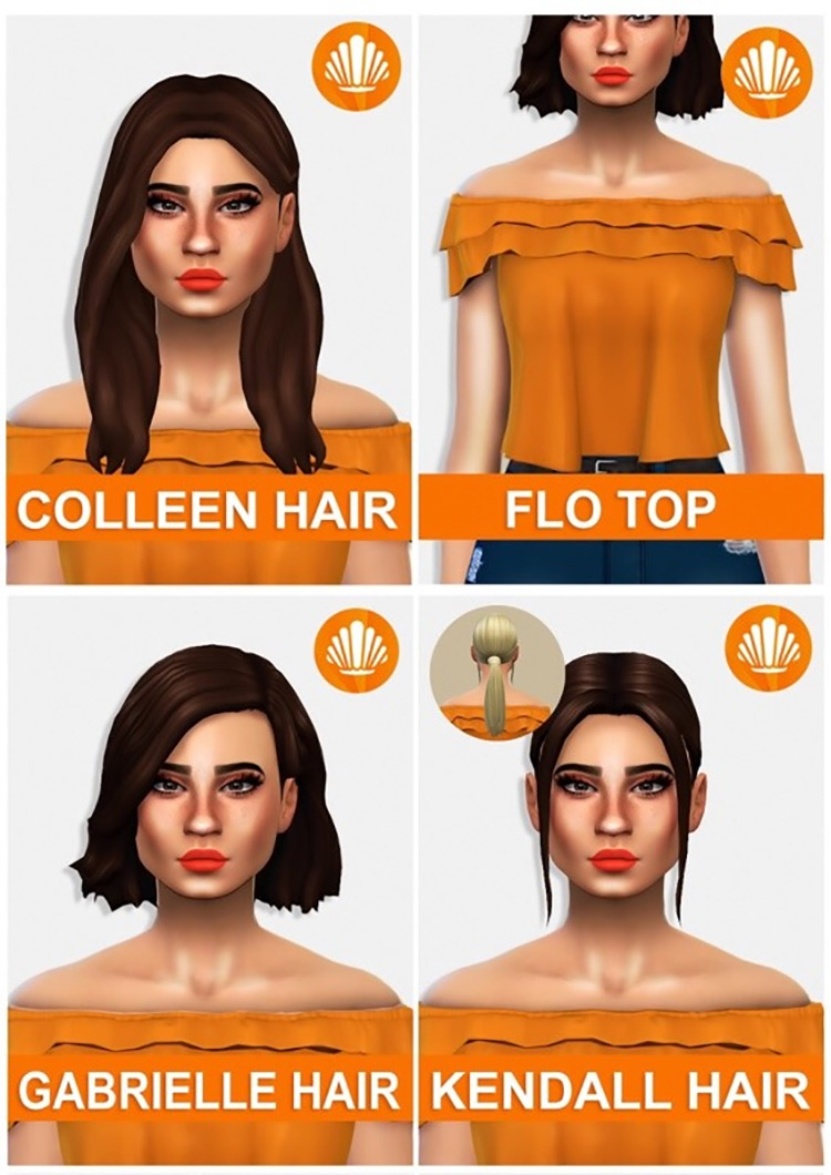 Summer in Sulani Hair Pack / TS4 CC