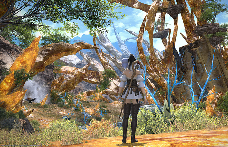 Screenshot of mage character in FFXIV