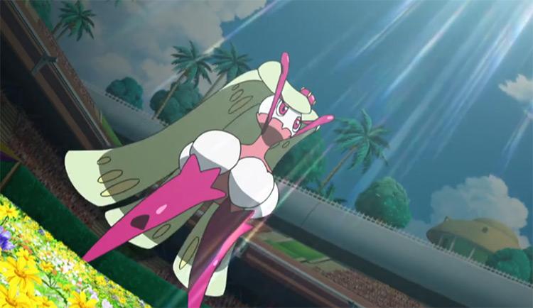 Tsareena Pokemon in the anime