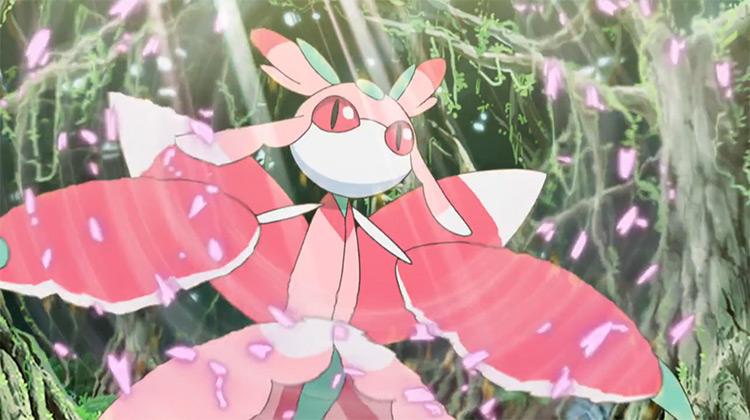 Lurantis Pokemon anime screenshot