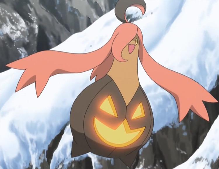 Gourgeist Pokemon anime screenshot