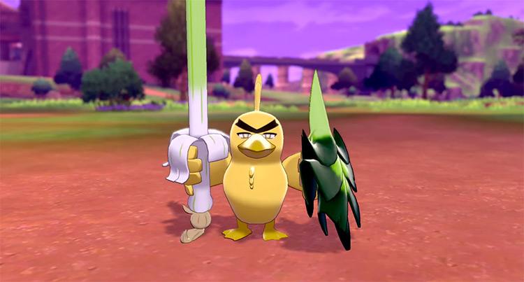 Yellow Shiny Sirfetch'd Pokémon