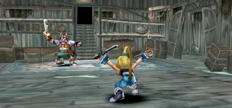FF9 HD Zidane Battle Pose Screenshot