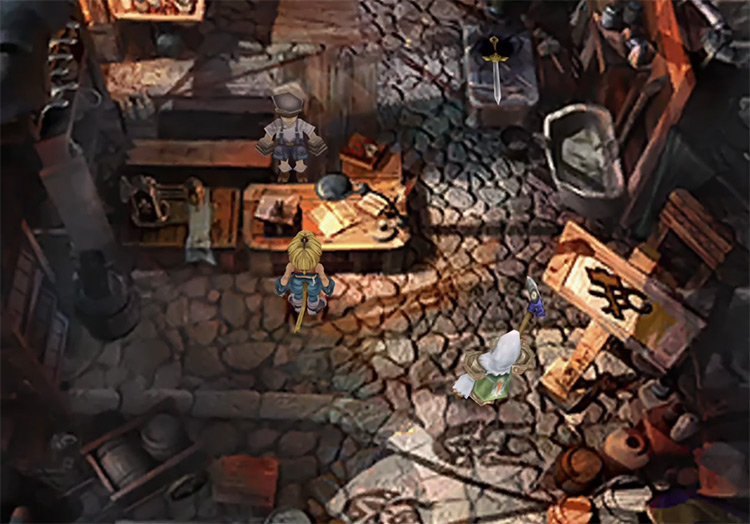Synthesis shop in Final Fantasy IX