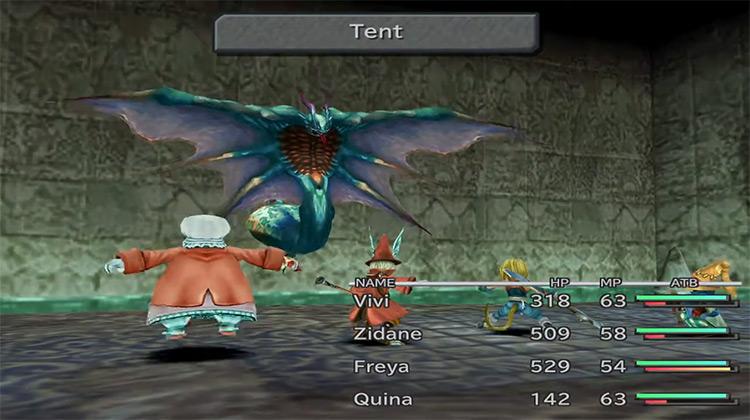 Team battle in Final Fantasy IX