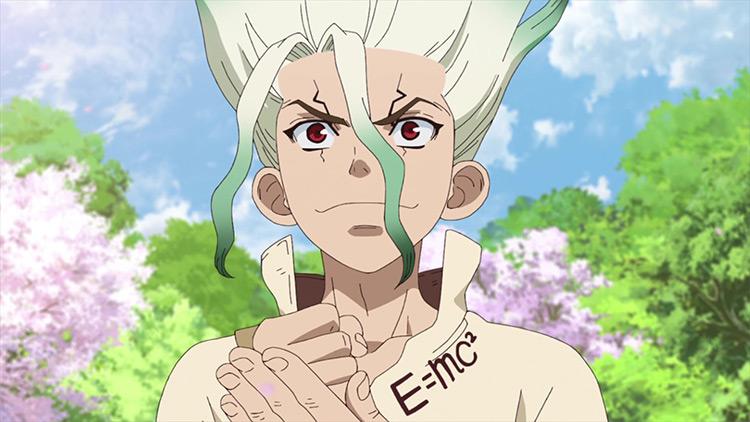 Senku in Dr. Stone anime