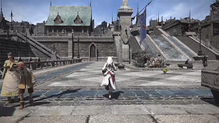 Foundation (Ishgard) City Screenshot in FF14