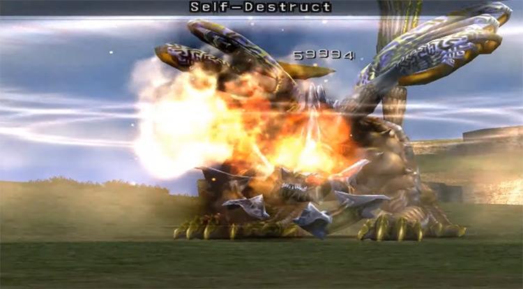 Kimahri's Self Destruct / FFX screenshot
