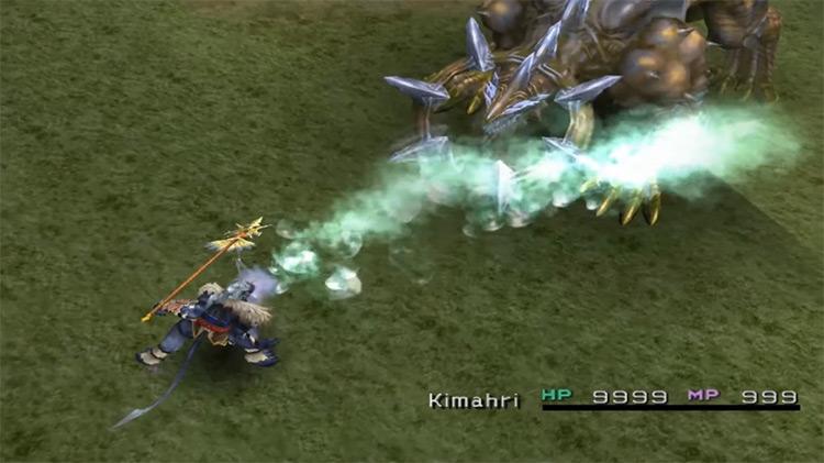 Kimahri's Aqua Breath Overdrive in FFX