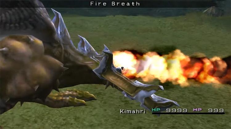 Kimahri's Fire Breath / FFX screenshot