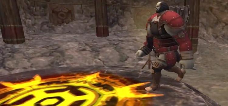 Warrior starting Maat fight in FFXI