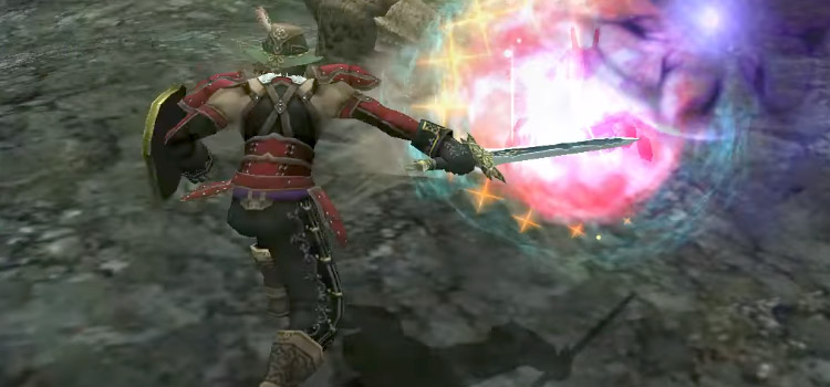 Red mage in battle in FFXI