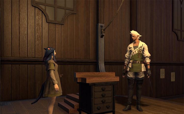Screenshot of the Carpenters' Guild in FFXIV