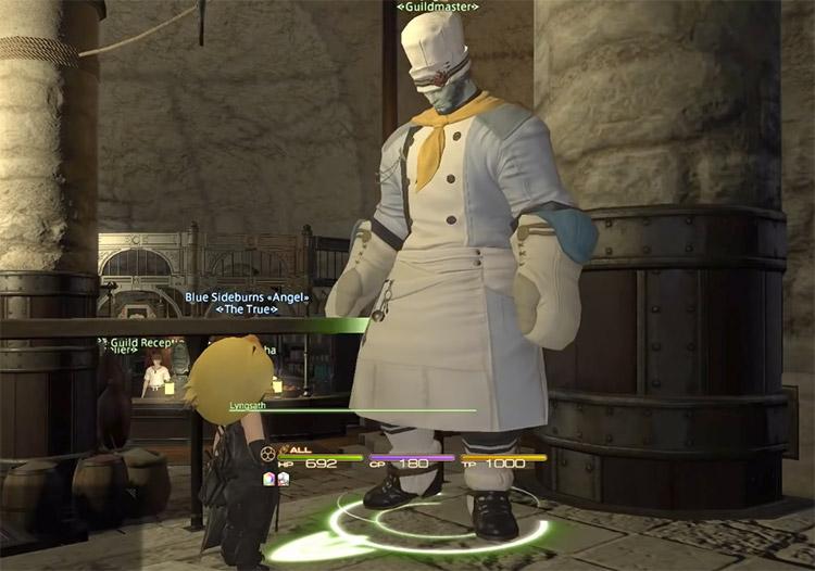 Screenshot of Culinarian Guildmaster in FFXIV