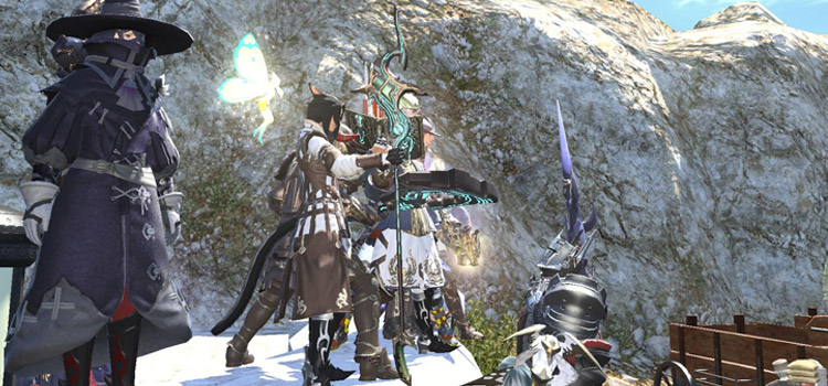 FFXIV Party with WHM using Allagan Cane
