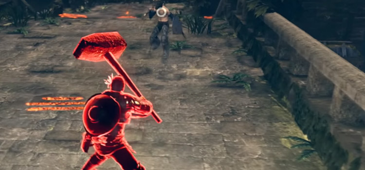 DS1 Blacksmith Giant Hammer in Battle