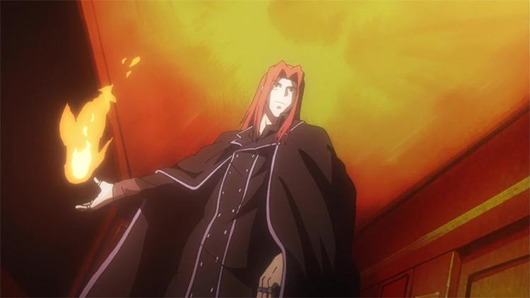 Stiyl Magnus from A Certain Magical Index anime
