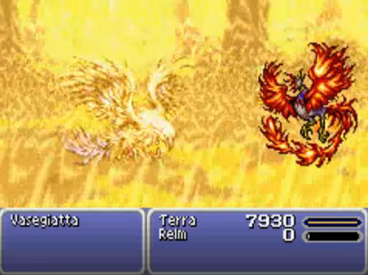 Phoenix esper in Final Fantasy 6