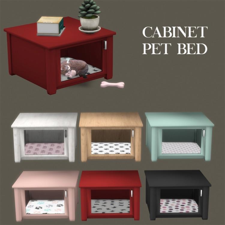 Cabinet Pet Bed TS4 CC
